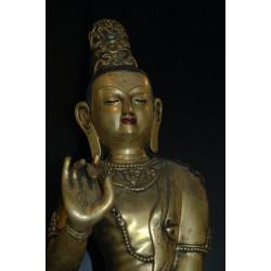Buddha Avalokiteshvara (relaxed pose) Statue: Shikshin Monastery, Tibet, 21st Century
