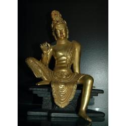 Buddha Avalokitesvara Statue: Gold, Tibet, 21st Century