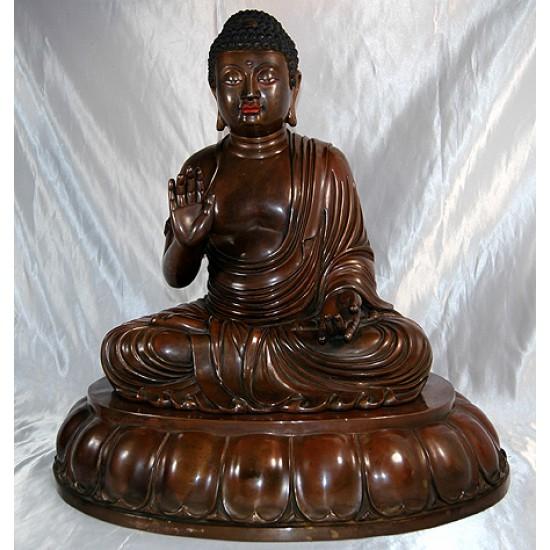 Buddha Statue: Copper, 20th Century