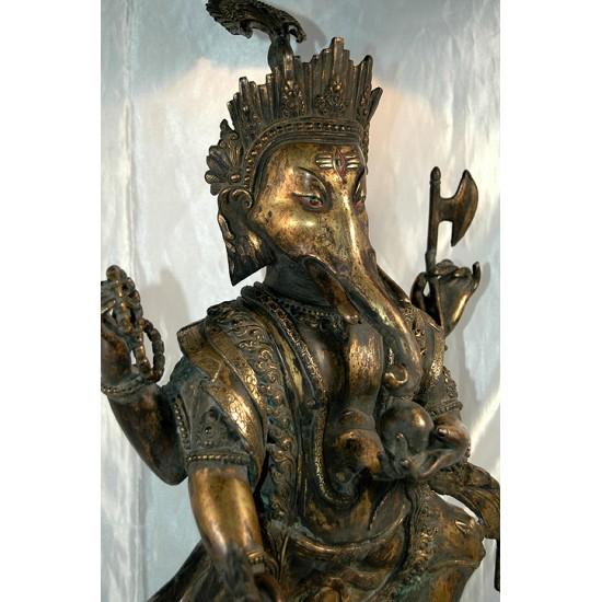Ganesh Statue: Bronze, Nepal, 19th Century