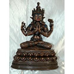 Chenrezig Buddha Statue: Nepal, 21st Century