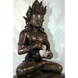 Bodhisattva Vajrasattva Statue: Nepal, 20th Century