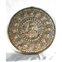 Buddha Mandala, silver
