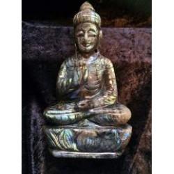 Buddha carved in Labradorite