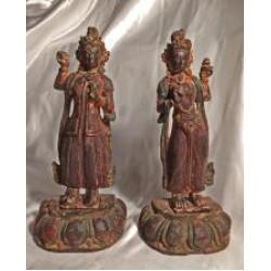 Dakinis 'Yeshe Tsogyal' & 'Tashi Kyedren' - rare & very old