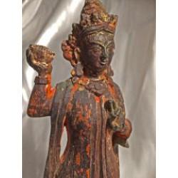 Dakini Statues: Yeshe Tsogyal & Tashi Kyedren, Tibet, 18th Century