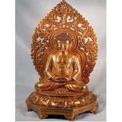 Golden Buddha Statue: China, 20th Century