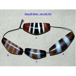 DZi (gZi) Beads: New 'Chung' (yoke or crescent)