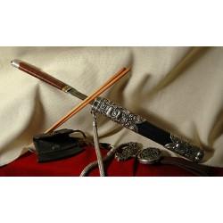 Silver Knife set, Mongolian Royal Family 1