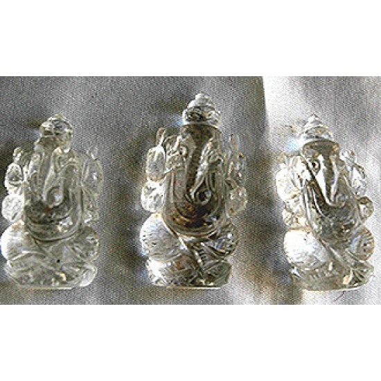 Ganesh, quartz, pocket blessing