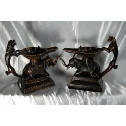Elephant (Temple) Oil Lamp set