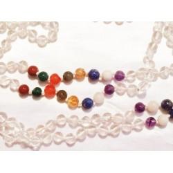 Mala Prayer Beads: Quartz & Various Stones