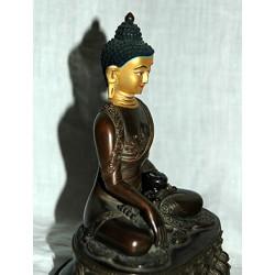 Buddha Shakyamuni Statue: Earth touching post, Nepal, 21st Century