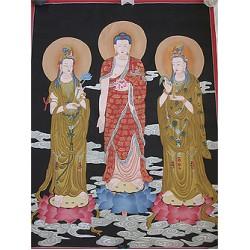 Buddha w/Taras Thangka