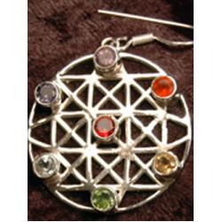 earrings & pendant set, Chakra matrix energy