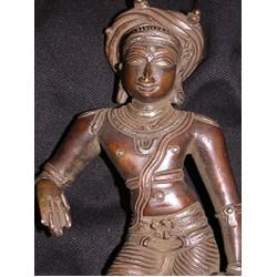Krishna Statue: Copper, 21st Century No.1
