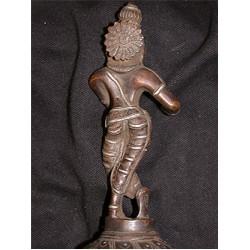 Krishna Statue: Copper, 21st Century No.2