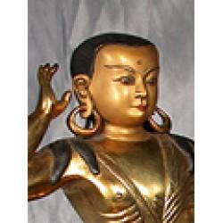 Milarepa Statue: The Great Buddhist Sage: Bhutan, 20th Century