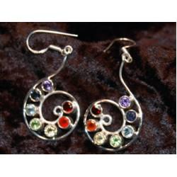 Earrings; Nautilus,