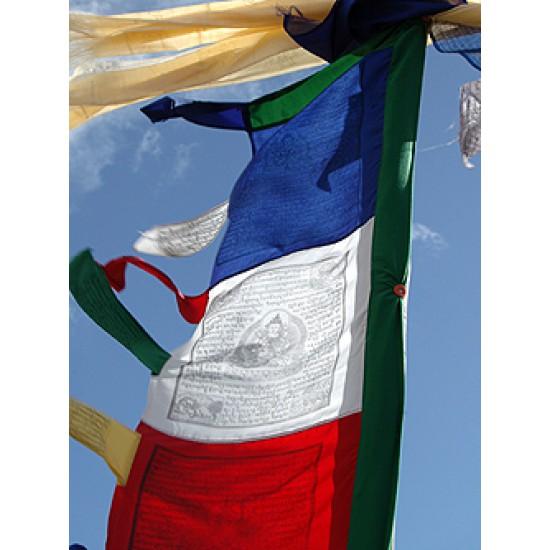 Prayer Flag, Buddhist; pole type