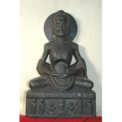 Buddha Shakyamuni Statue: Ascetic, Nepal, 18th Century