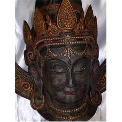 Green Tara Mask: Bhutan, 20th Century