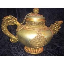 Ceremonial Teapot; Tibetan, large