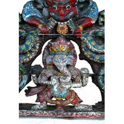 Ganesh Temple Gate Crown: Wood, very Rare and Old