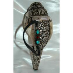 Conch shell trumpet; Tibetan 'Sankha' 2